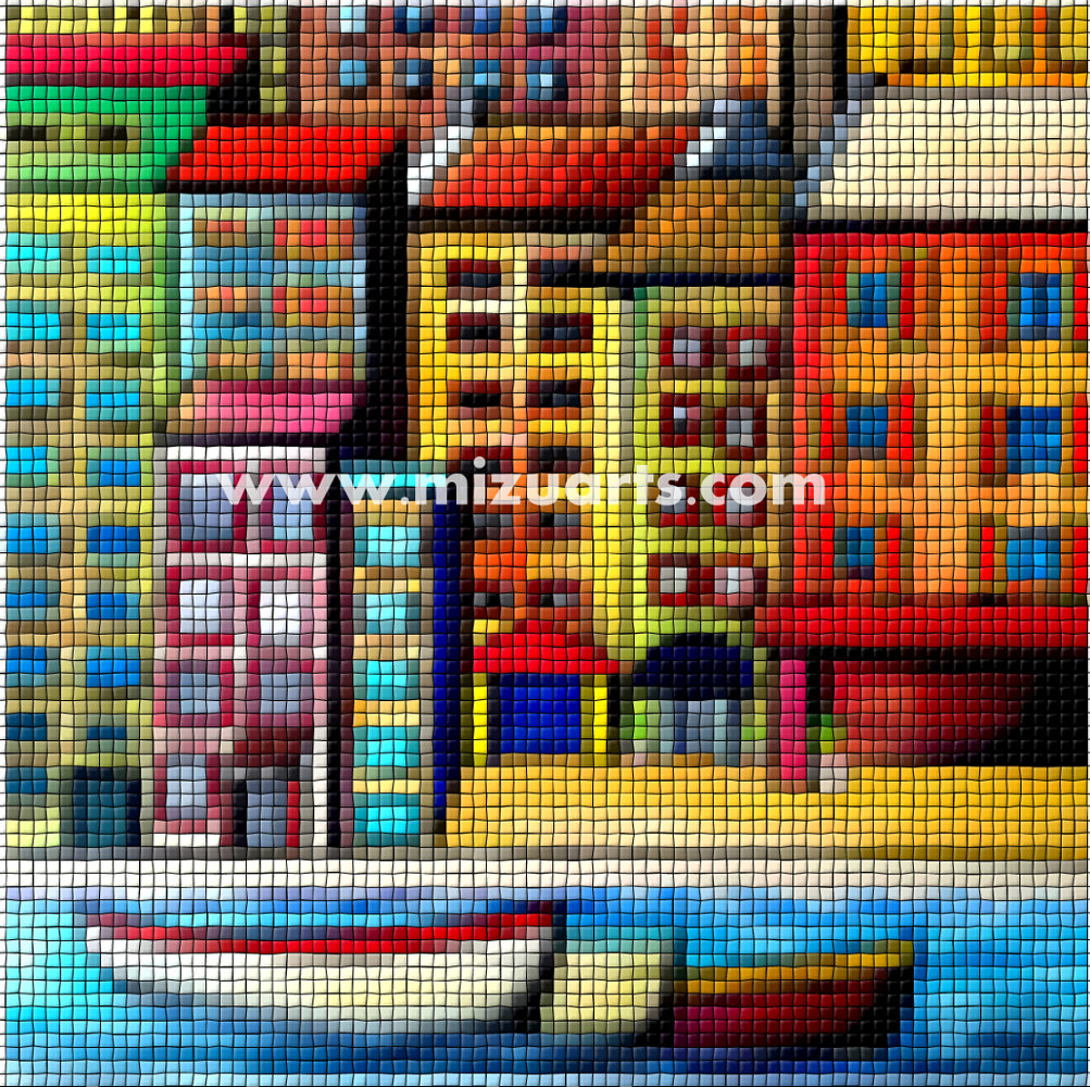 Print Waterfront Mosaic  by Isaac Carpenter