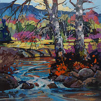 Summer Creek Acrylic 24x24 2017 by Brian  Buckrell