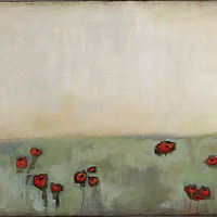 Acrylic painting Pretty Poppies by Drew Marin