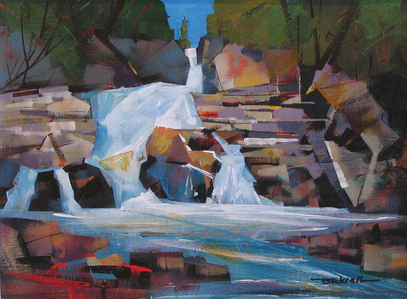 Early Runoff Acrylic 12x16 2011 by Brian  Buckrell