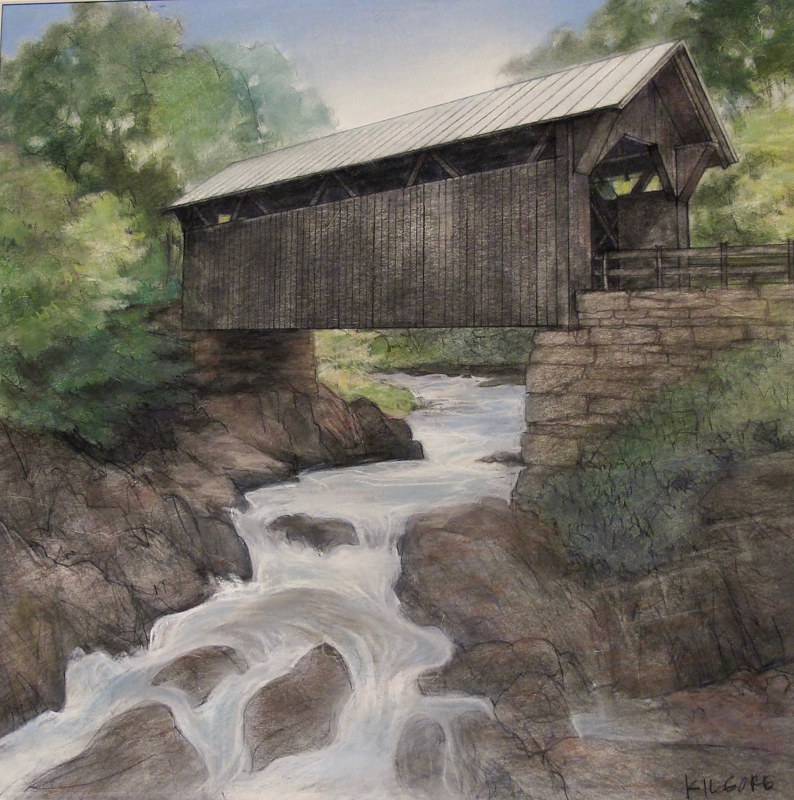 The Gold Brook Covered Bridge by Jess Kilgore