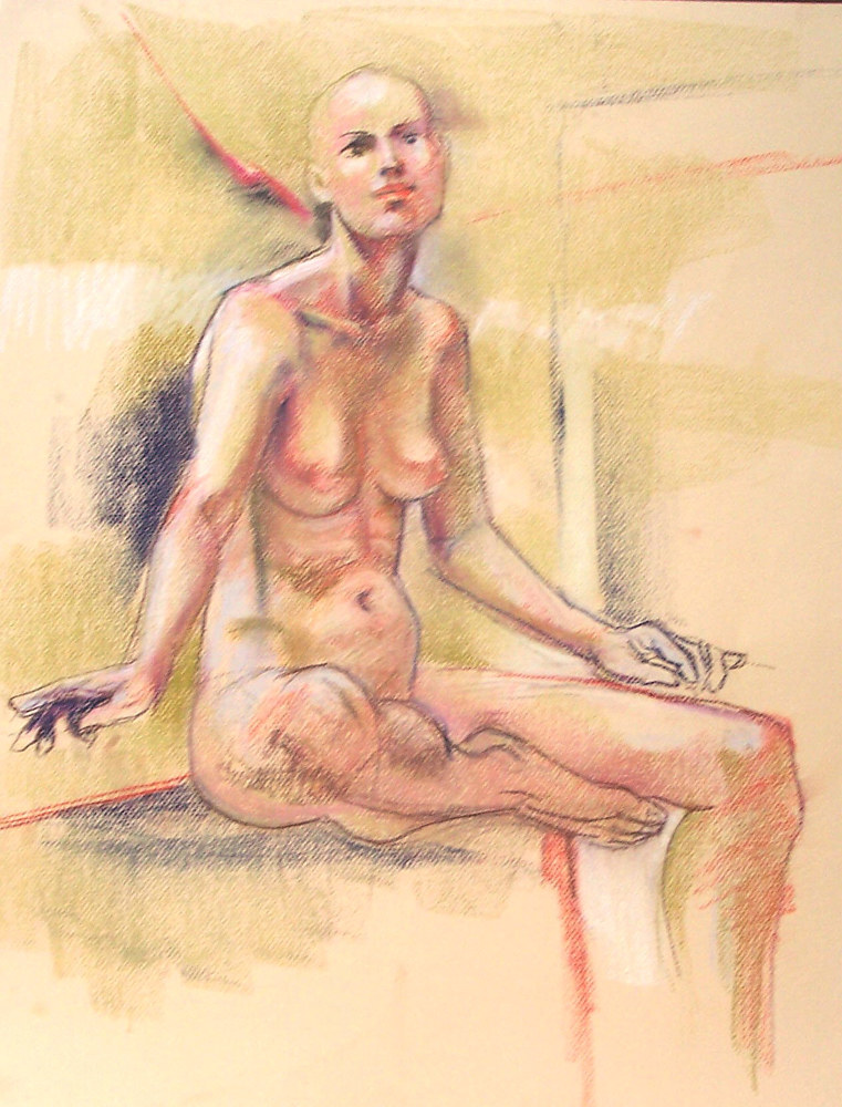Nude with Shaved Head  by Don Moore