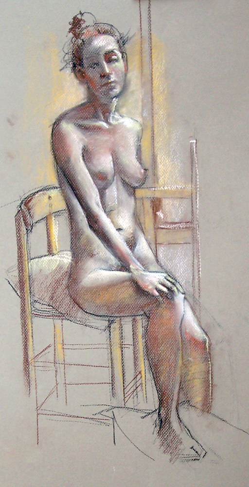 Seated Nude 01 by Don Moore