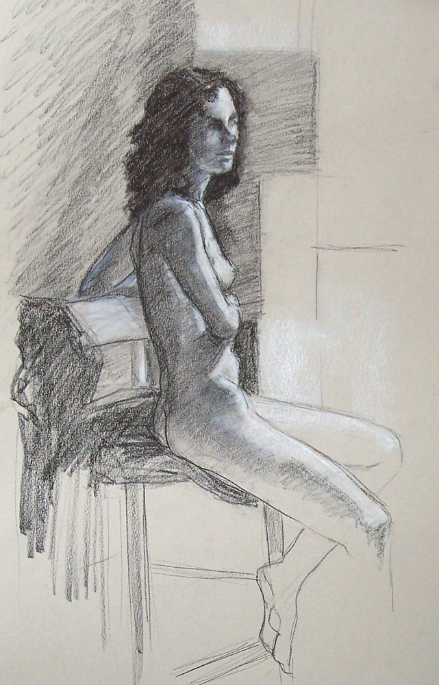 Seated Nude 02  by Don Moore