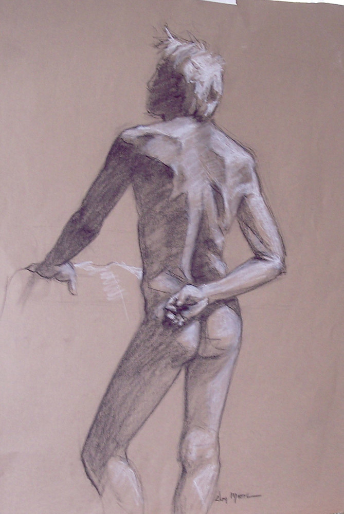Male Figure with white by Don Moore