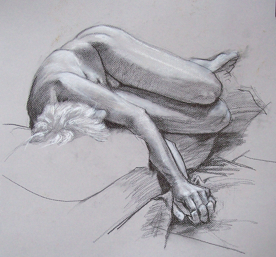 Reclining Male 01 by Don Moore