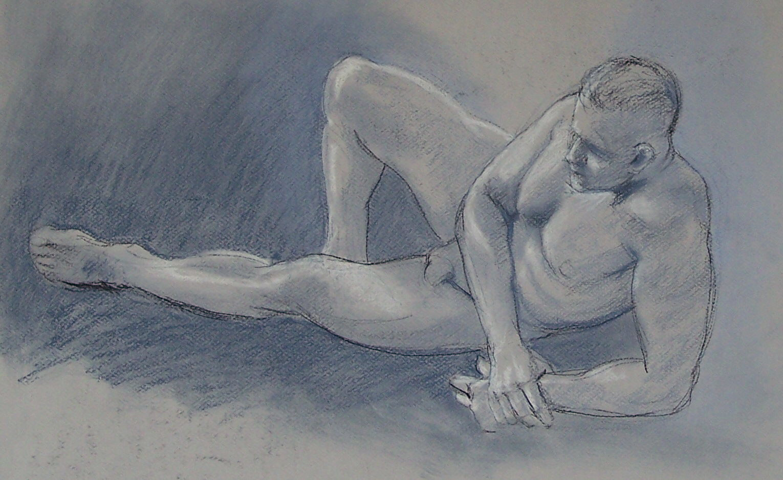 Reclining Male 02 by Don Moore