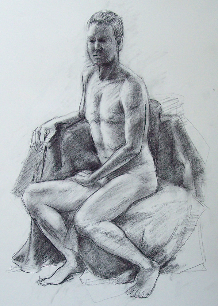 Seated Male 01 by Don Moore
