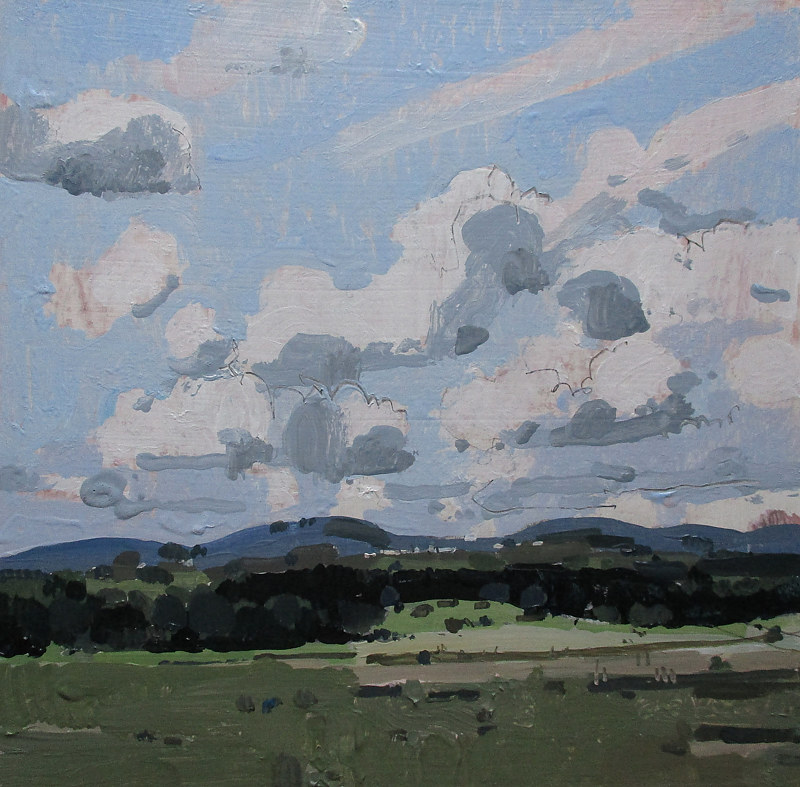 Acrylic painting North Hills, August Sky by Harry Stooshinoff