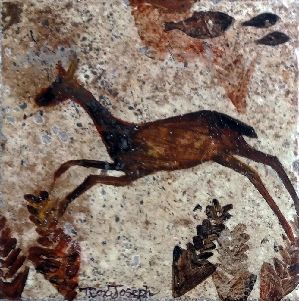Leapingdeercavepainting by Terry Joseph