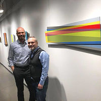 Michael and I at the opening of Further Interruptions by Robert Porazinski