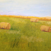 Acrylic painting Lopez Rolls by Aimee Rudge