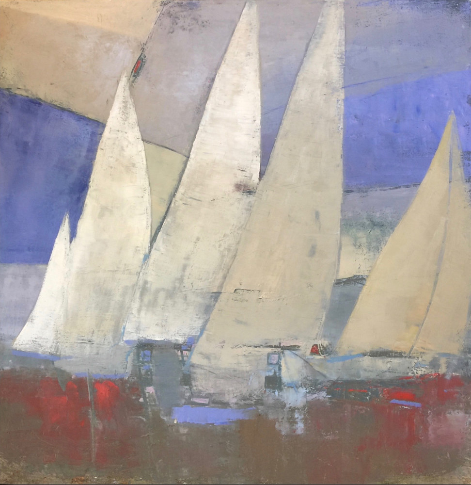 Oil painting Nantucket Race I  by Nella Lush