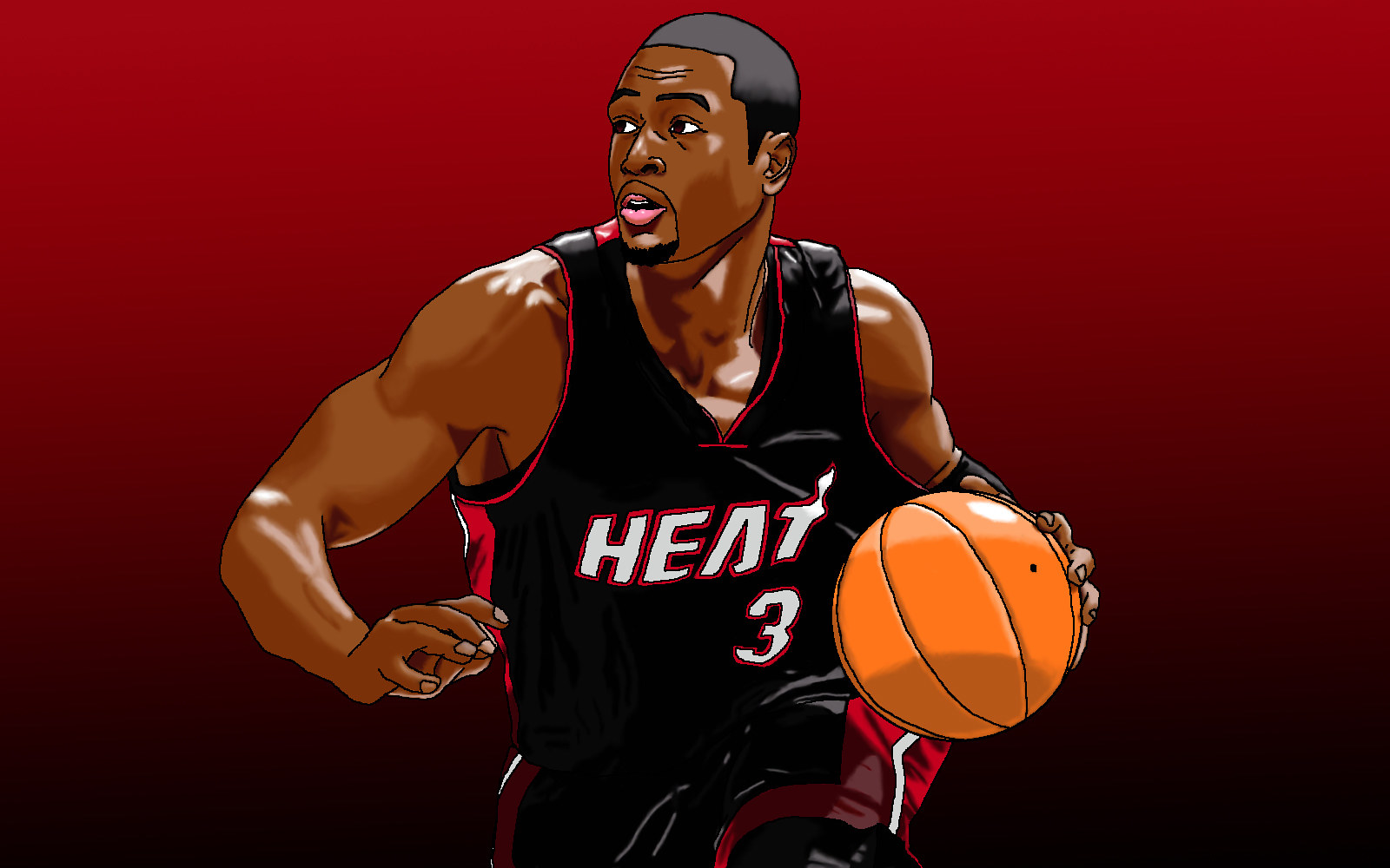 Dwayne Wade Portrait by Jordan Woodard