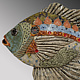 Blue Gill - Brown & Green by Cathy Crain