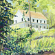 Oil painting The Parsonage, New Fairfield, CT by Elizabeth4361 Medeiros