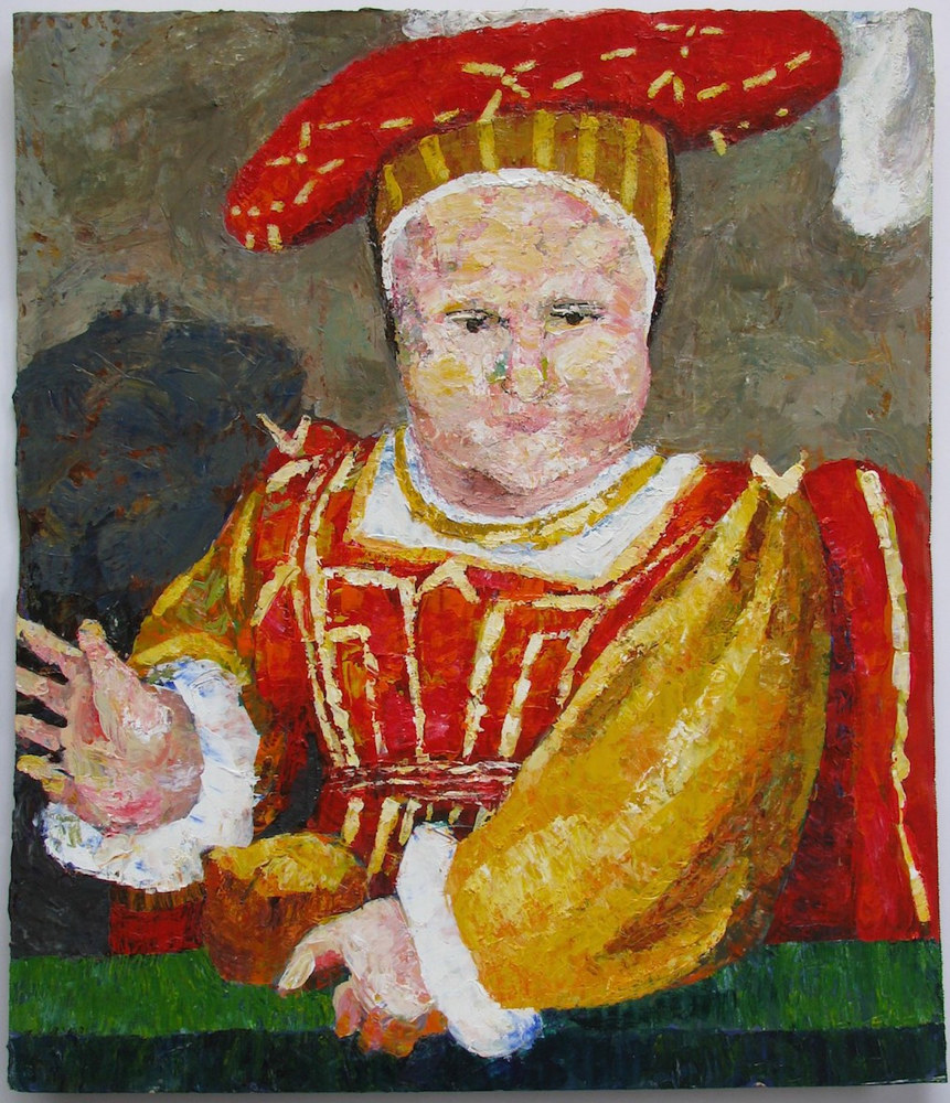 Acrylic painting Edward VI (After Holbein)  by Gary Jenkins
