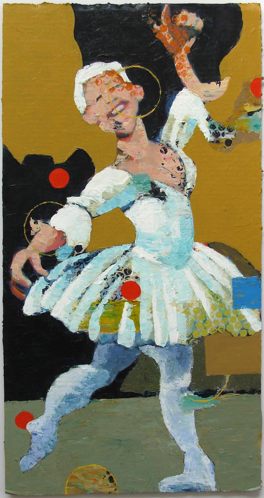 Acrylic painting White-Haired Ballerina  by Gary Jenkins