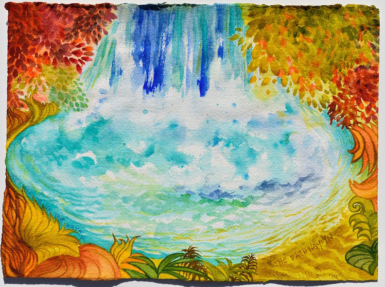 Watercolor We All Drink the Water by Lisa  Baechtle