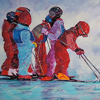Im Going for Hot Chocolate  Acrylic 20x30 2012 by Brian  Buckrell
