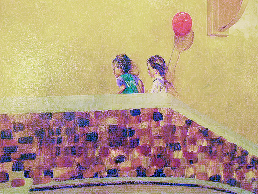 MamaLina Kids with balloon by Terry Cox-Joseph