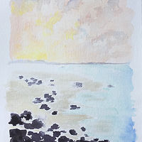 Watercolor Hawaiian Shore by Aimee Rudge