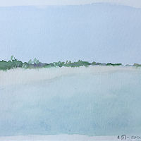 Drawing Bahamas Beach by Aimee Rudge