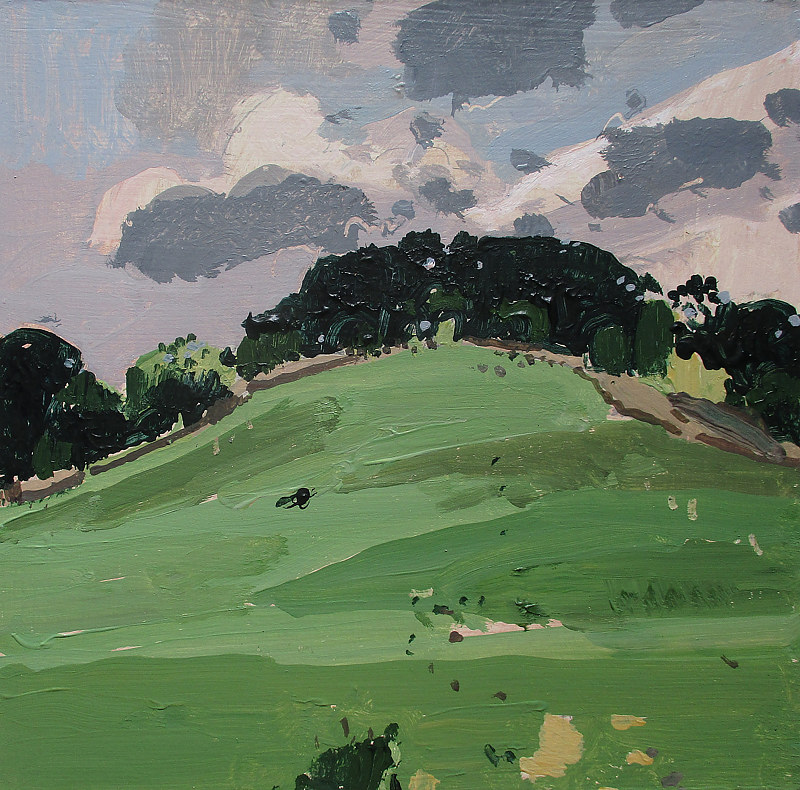 Acrylic painting Green Hill, Heat Wave by Harry Stooshinoff