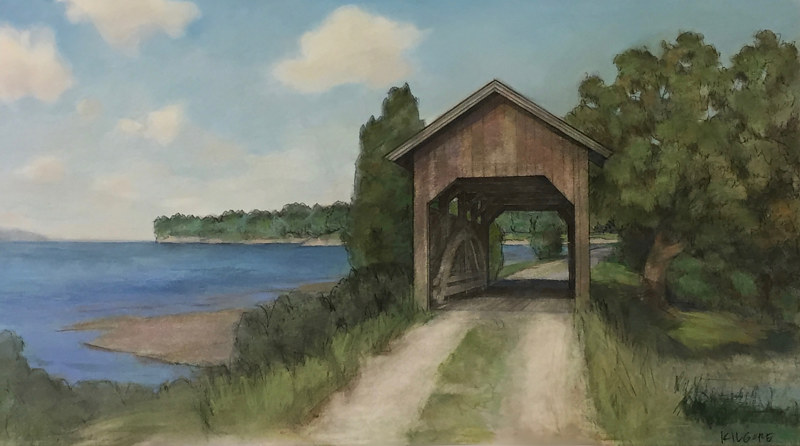 The Lake Shore Covered Bridge by Jess Kilgore