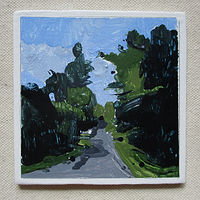 Acrylic painting Road Away by Harry Stooshinoff