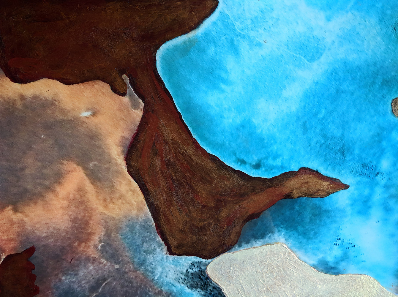 Acrylic painting Earth Science by Pamela Pitt