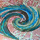 Acrylic painting Going in Circles by Pamela Pitt