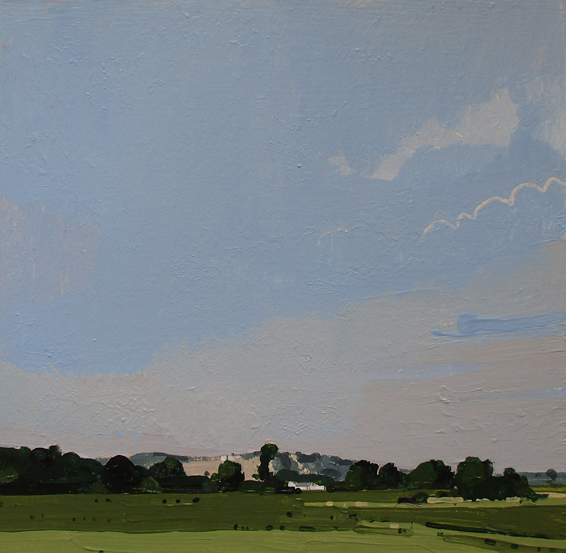 Acrylic painting To Richardsons Hill  by Harry Stooshinoff