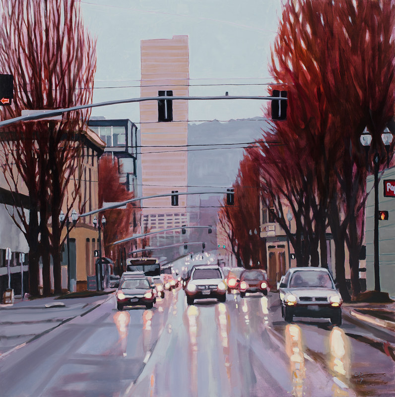 Oil painting Burnside med by Shawn Demarest