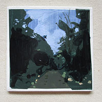 Acrylic painting Forest Trail  by Harry Stooshinoff