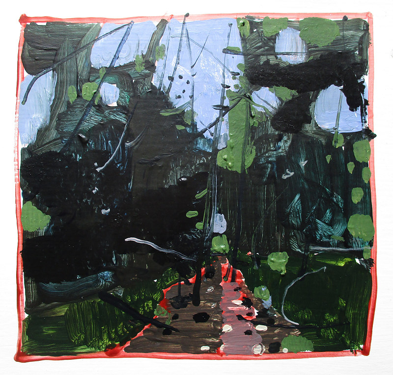 Acrylic painting Forest Path by Harry Stooshinoff