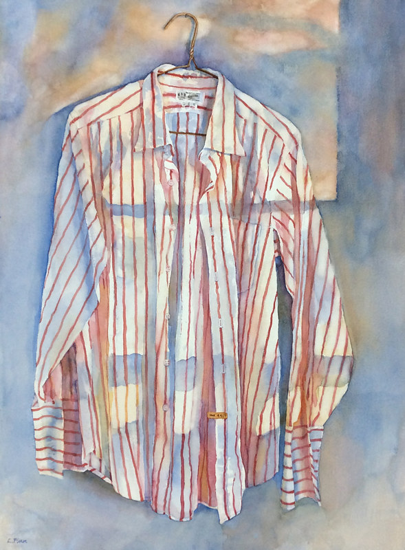 Watercolor His Favourite Shirt (web) by Linda Finn