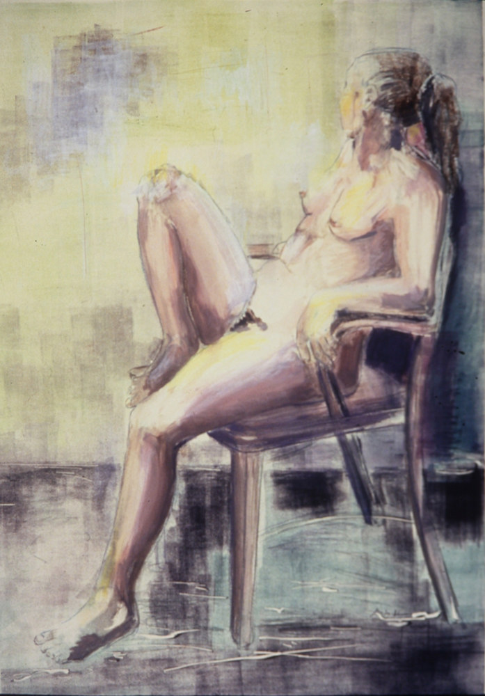 seated figure by June Long-schuman