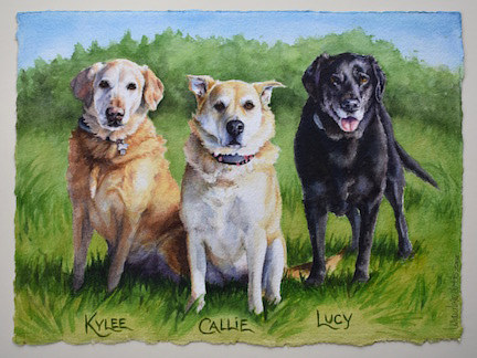 Kylee, Callie and Lucy by Lisa  Baechtle