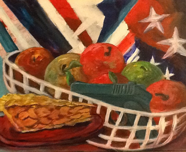 Acrylic painting As American as Apple Pie by George Servais