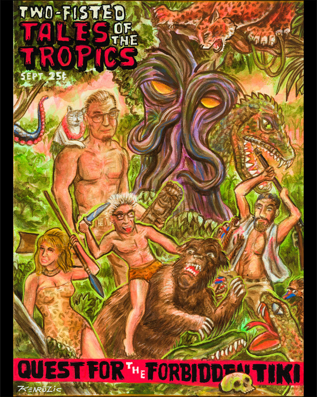 Mixed-media artwork Two Fisted tales of the Tropics by Kenneth M Ruzic