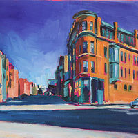 Oil painting lincoln and diversey  by Madeline Shea