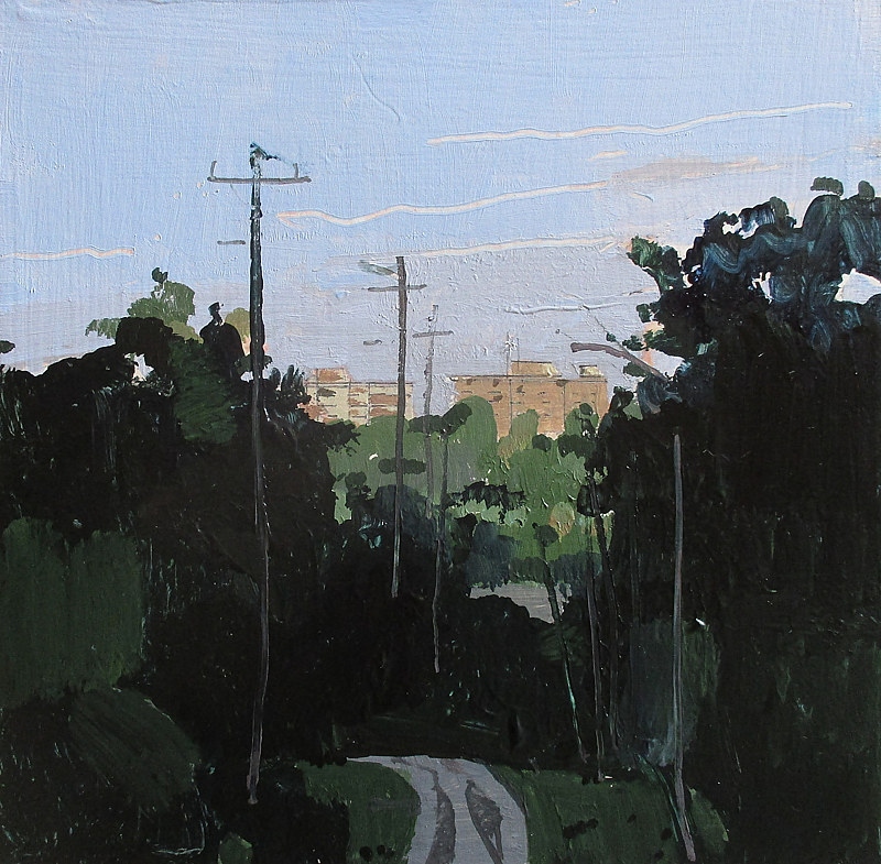 Acrylic painting Evening Light, Port Hope by Harry Stooshinoff