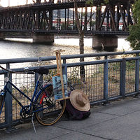 Portland plein air set up by Shawn Demarest