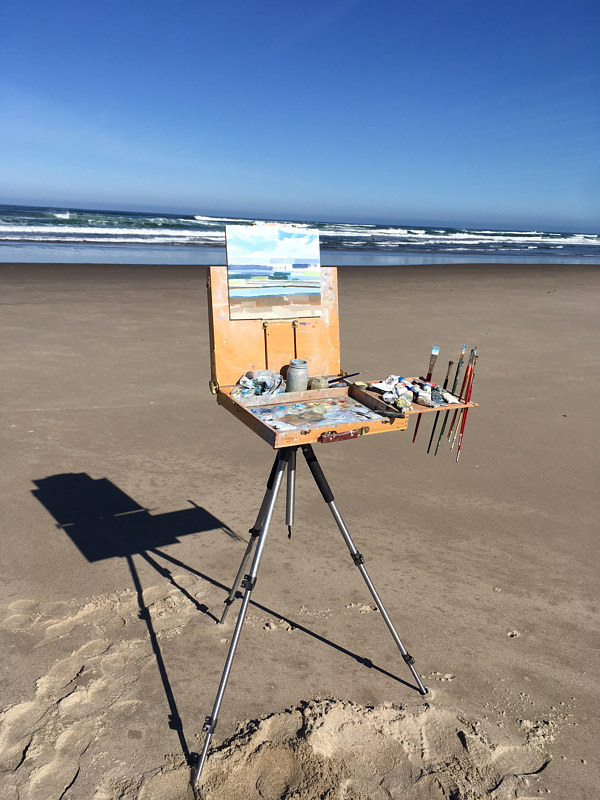 Painting on Oregon Coast by Shawn Demarest