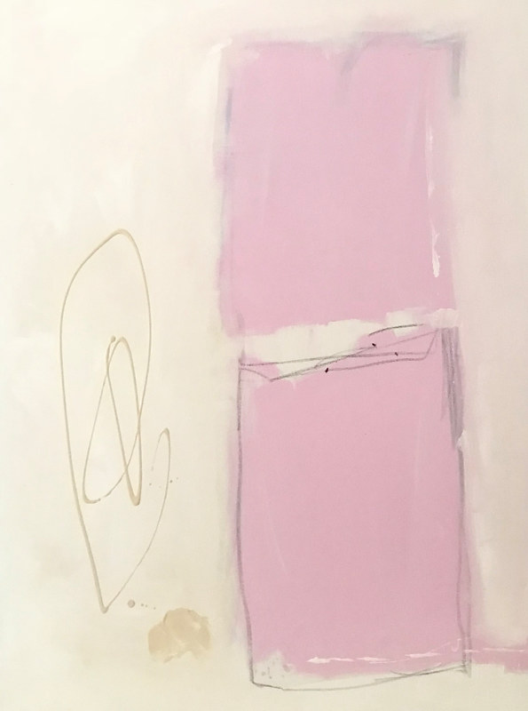 Acrylic painting Shapes in Pink by Sarah Trundle