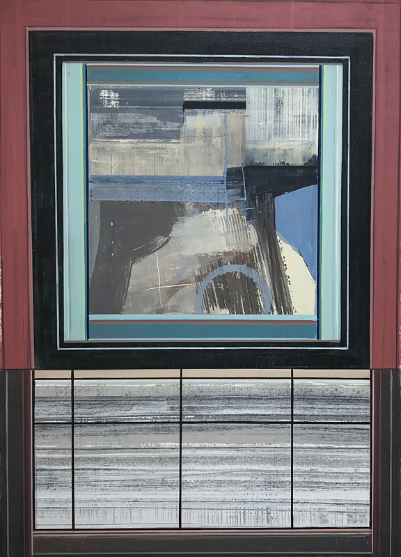 "Acrylic painting ""Subway Stop"" by Brad Nuorala"