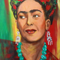 Painting Frida Kahlo by Jeanne Lloyd