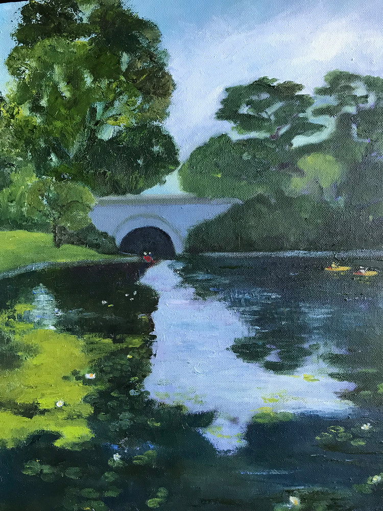 Oil painting Isles Bridge by Yvonne Foster