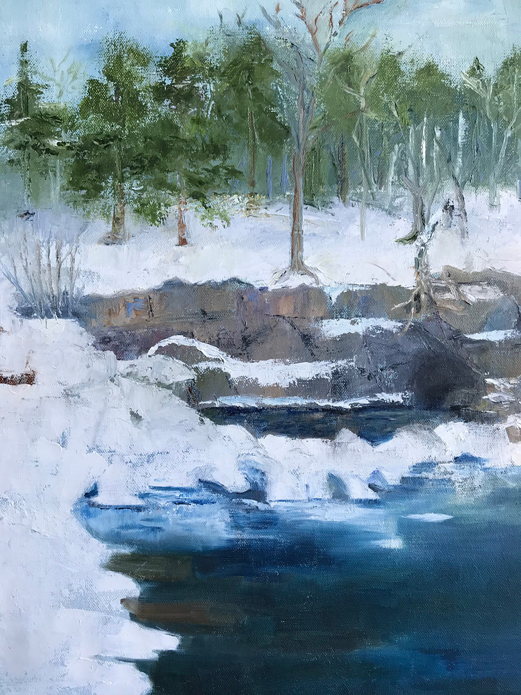 Oil painting Winter Shore by Yvonne Foster